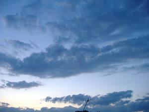 the sunset sky