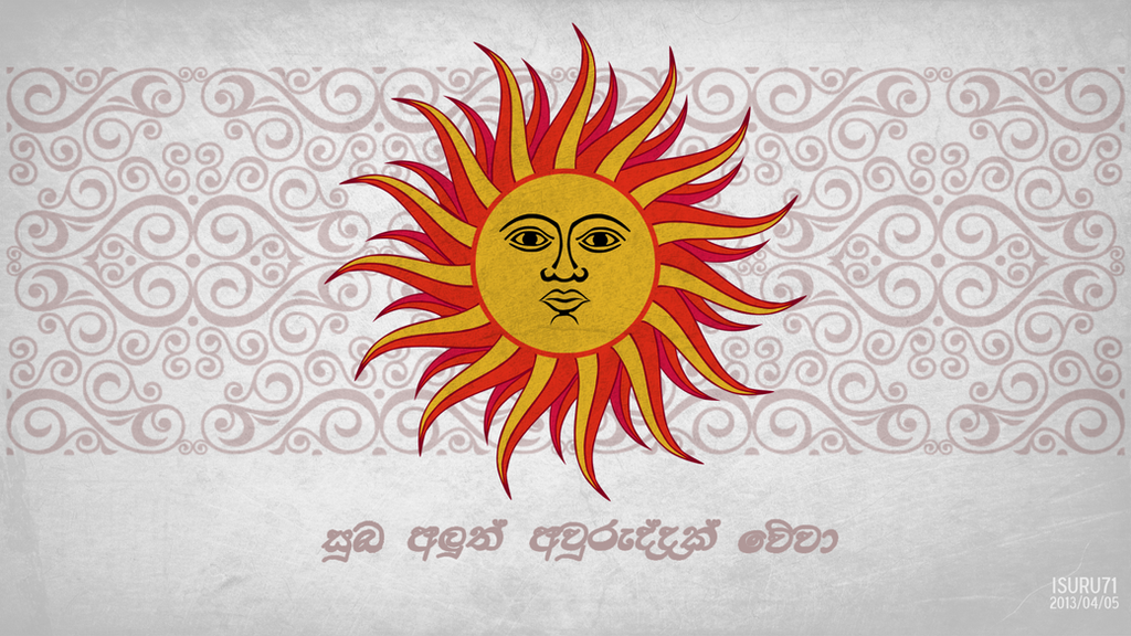 Sinhala Hindu New Year Wallpaper 2013 by i-am-71
