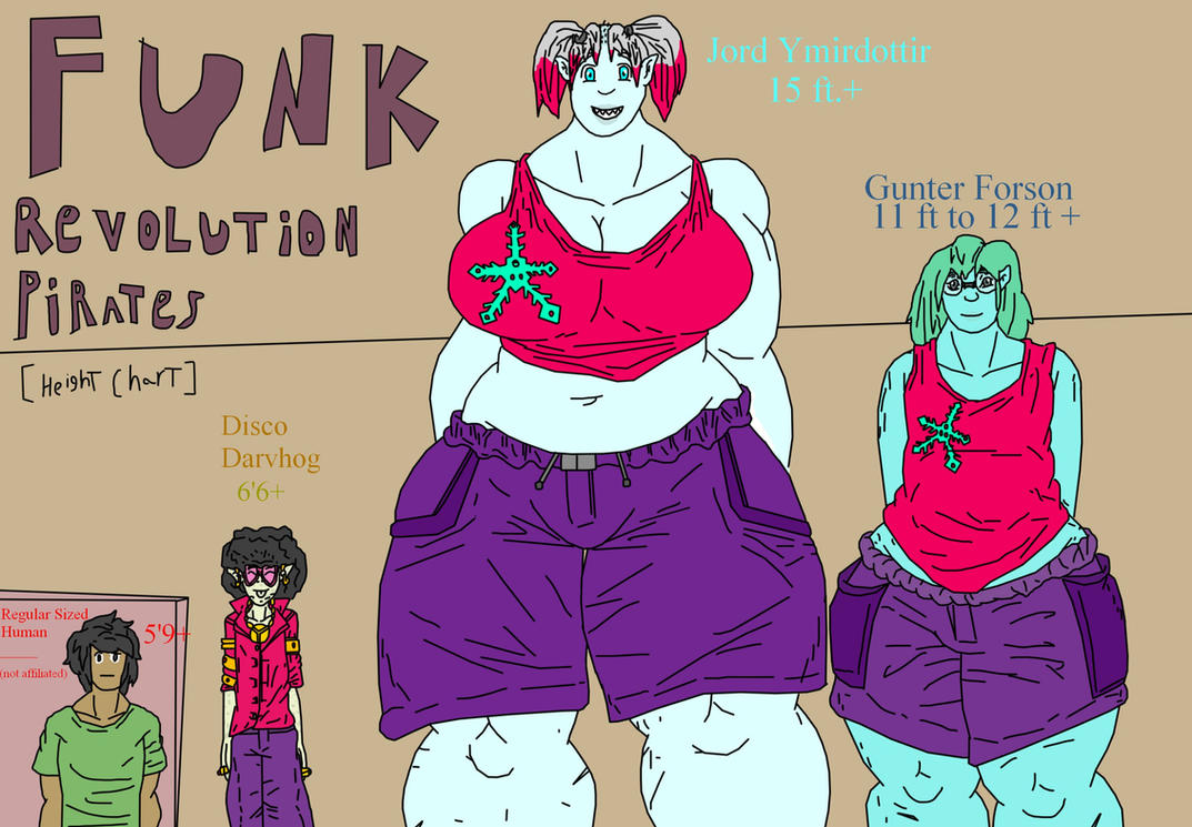 Funk Revolution Pirates Height Chart by hvk