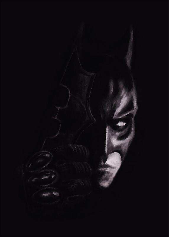 Batman Charcoal Render By Chrisgoddard85 On DeviantArt