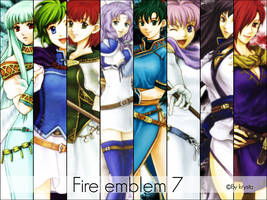 Wallpaper Fire emblem 7 girls
