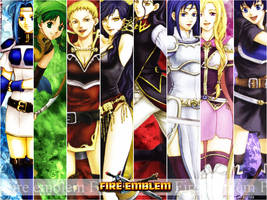 Wall Fire emblem 7 girls V.2
