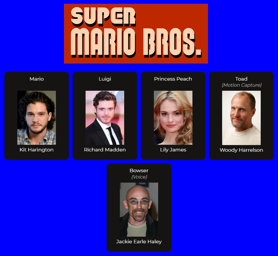 Super Mario Bros Live Action Movie Fan Cast By Zm26 On Deviantart