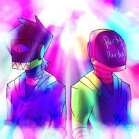 The ElectroDaft Duo by PandiifoxCosmictia