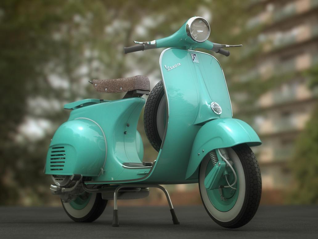 Vespa Old Model Scooty