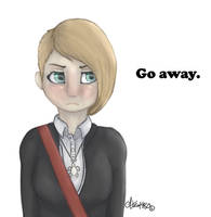 Go away (Speedpaint!) by AliKitKat