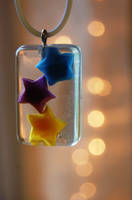 Lucky Paper Star Pendant by OcularFracture