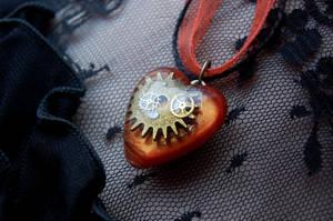 Steampunk Valentine Heart by OcularFracture
