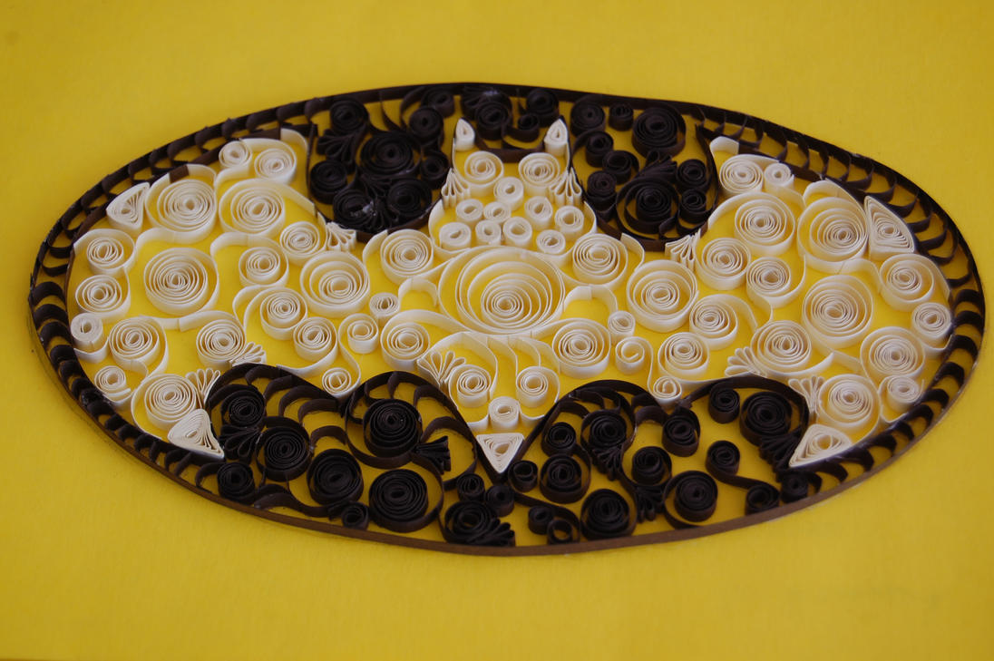 Quilling Paper Filigree Paper Filigree Batman Logo by