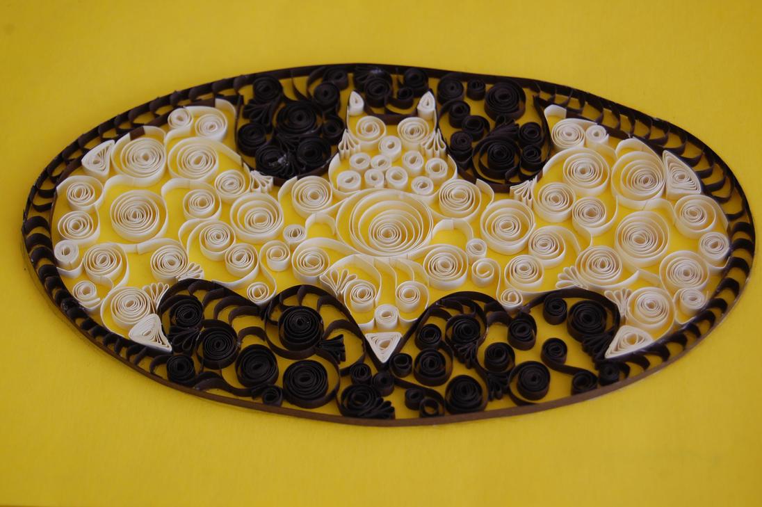 Quilling Paper Filigree Paper Filigree Batman Logo by