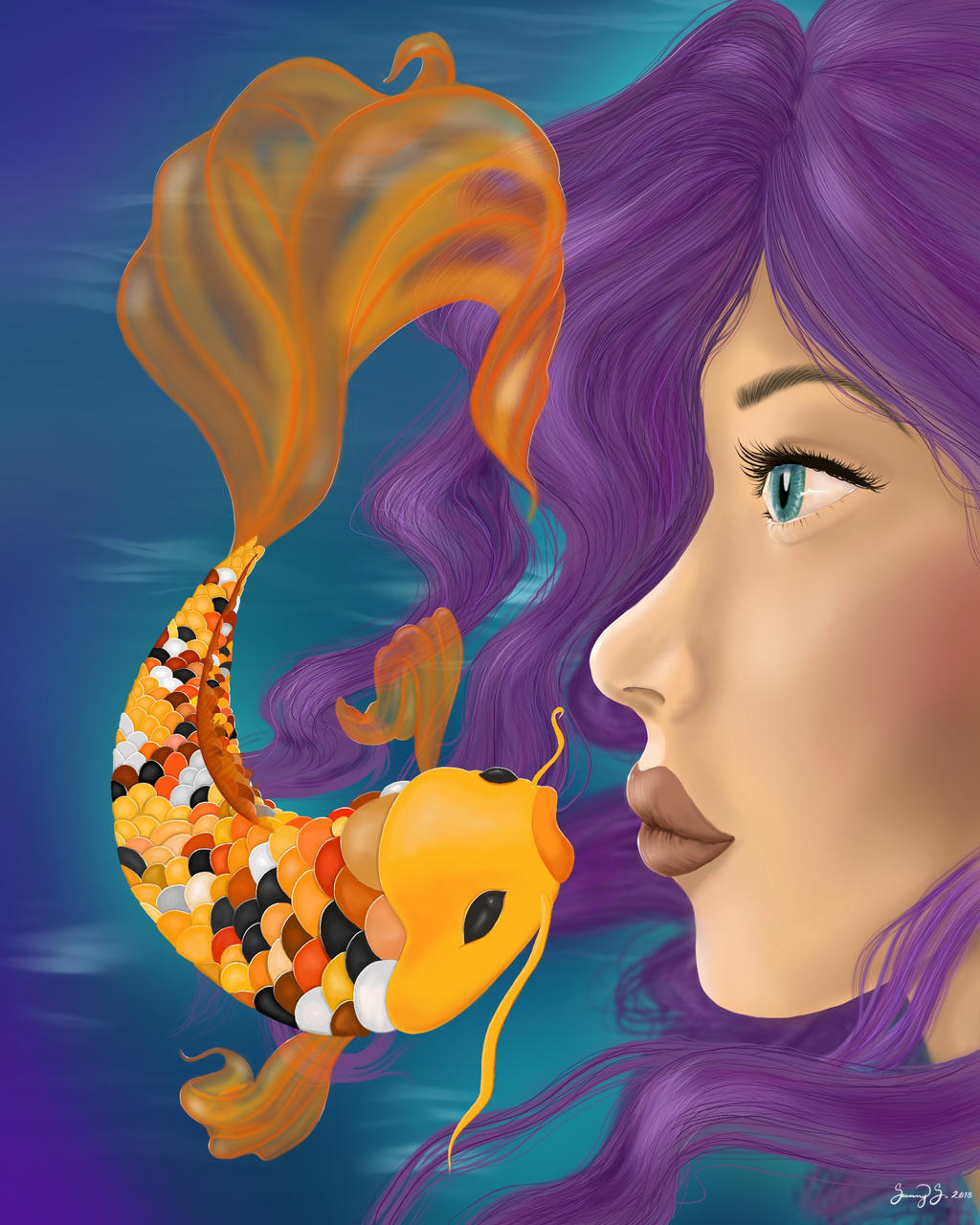Wish to Kiss a Fish by OcularFracture