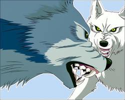 Kiba vs Tsume [Wolf's Rain]
