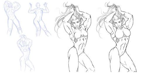 Commision SheHulk RENDER STYLE Sketch
