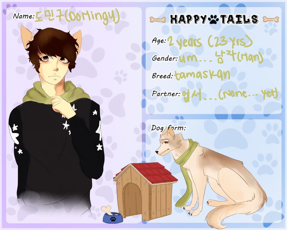 Happy tails| Do Mingu| Dog by Kimchiitazztic