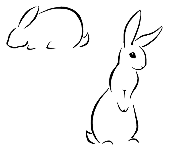 Line Art Bunny : Pin bunny rabbit outline wellies for colouring in on pinterest