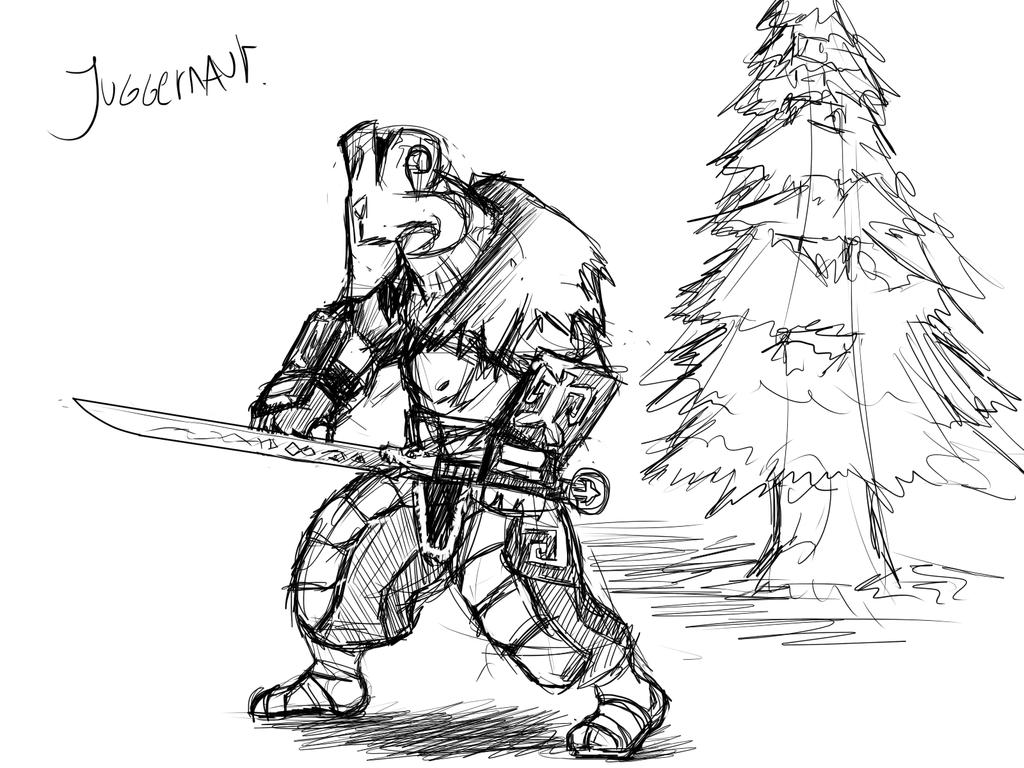 Juggernaut Sketch by Masdragonflare