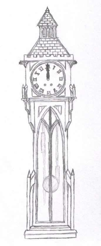 Gothic Grandfather Clock By Cthelmax