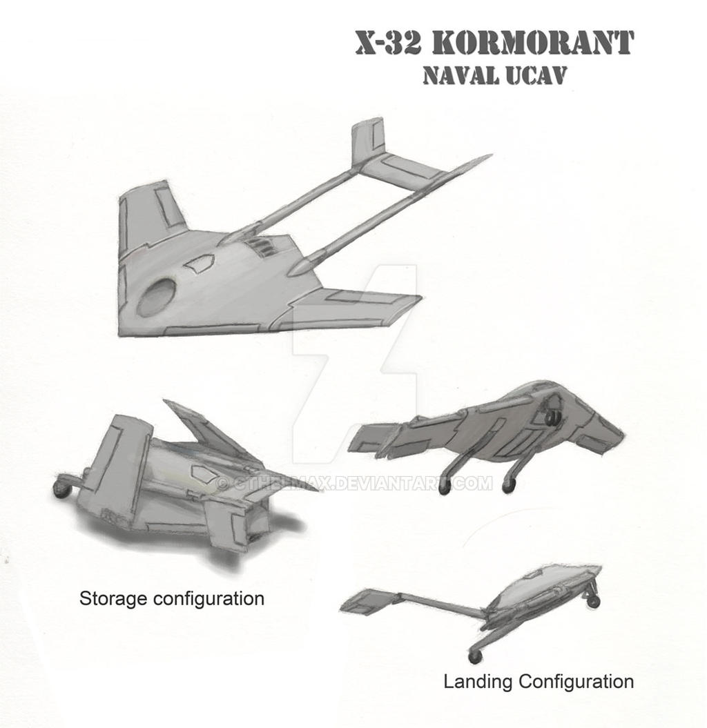X-32 Kormorant UCAV by cthelmax