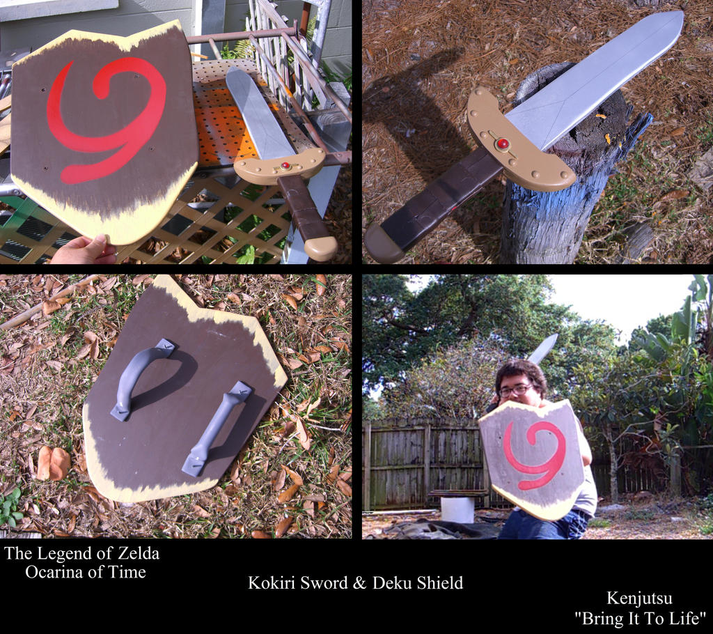 kokiri sword and deku shield by minatek616 on deviantart