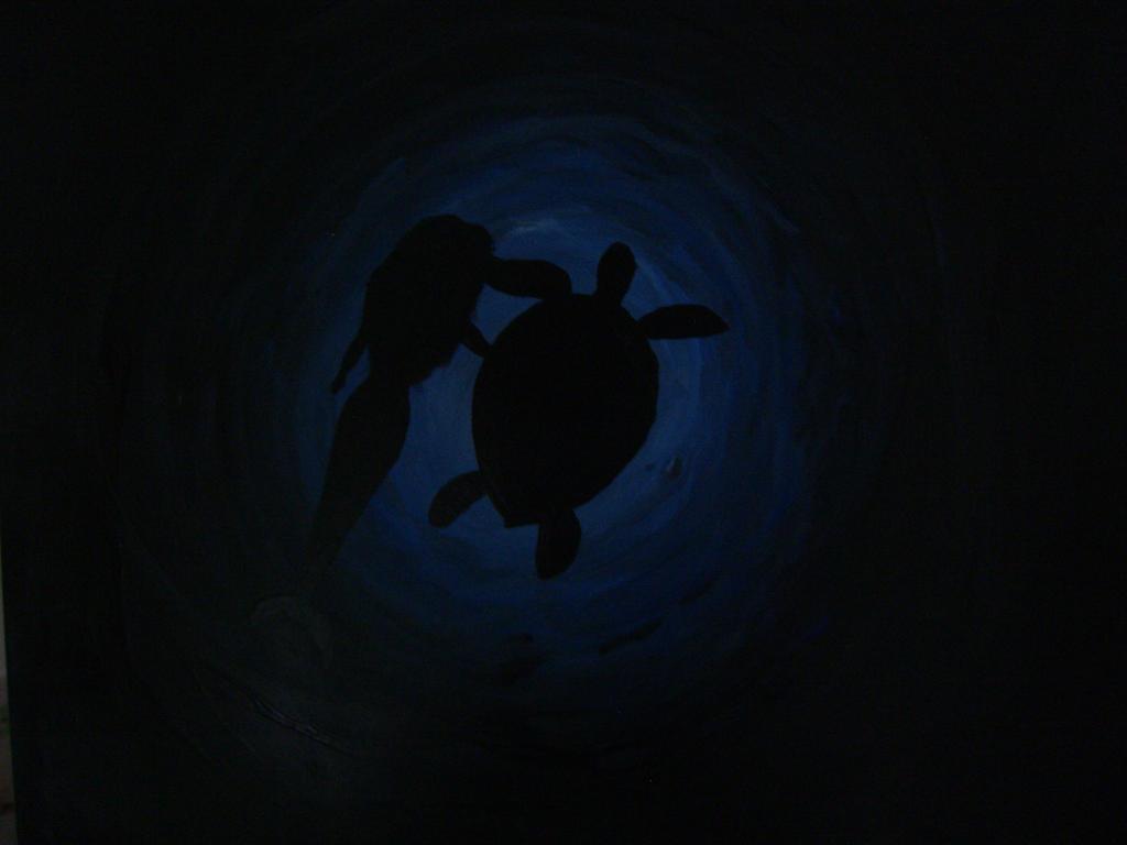Mermaid with Turtle by Minatek616