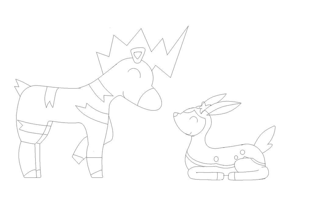 Blitzle and Deerling by Minatek616