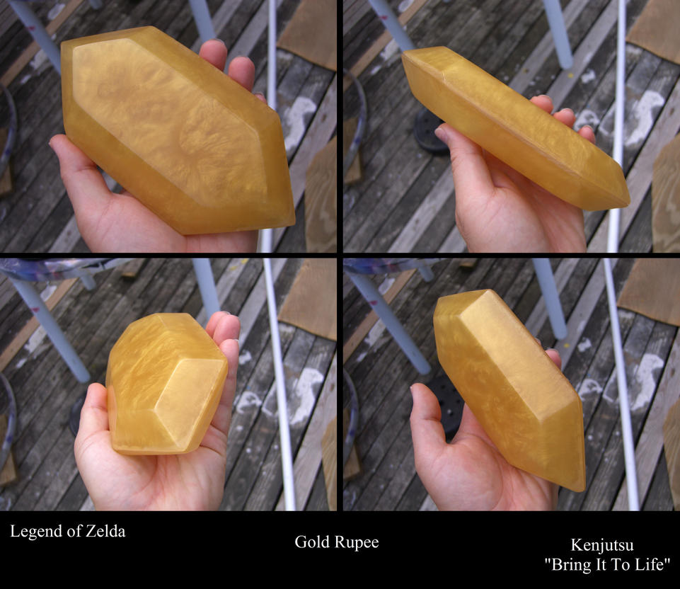 Large Gold Rupee from LoZ by Minatek616