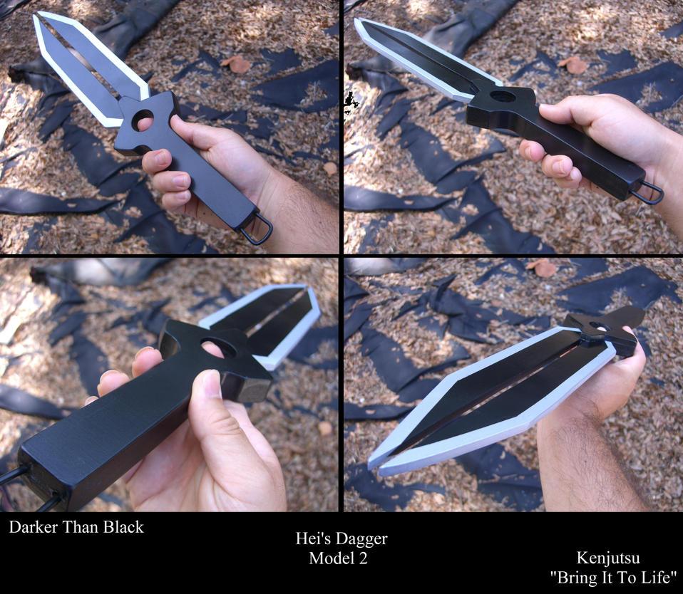 Hei's Dagger from Darker Than Black, model 2 by Minatek616