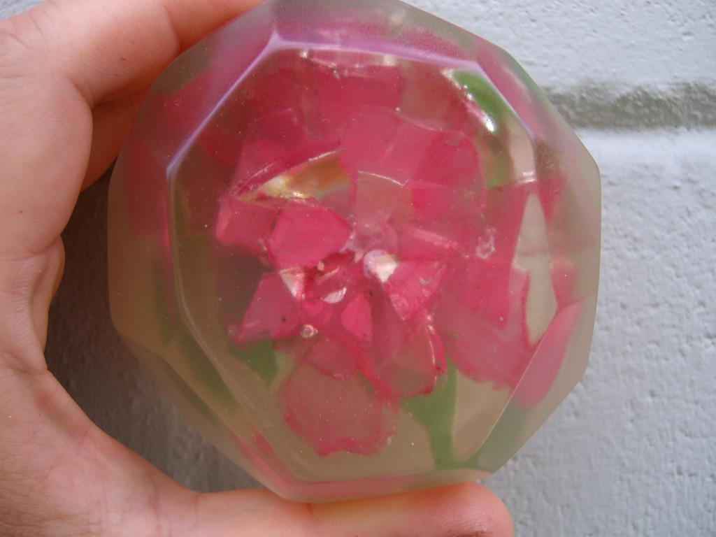 Broken Glass Rose in Resin by Minatek616