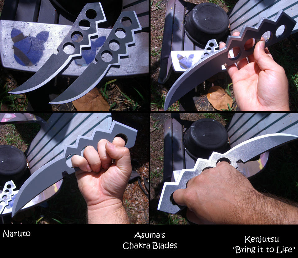 Asuma's Chakra Blades (for cosplay) by Minatek616