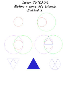 Vector tutorial - making a same side triangle 2