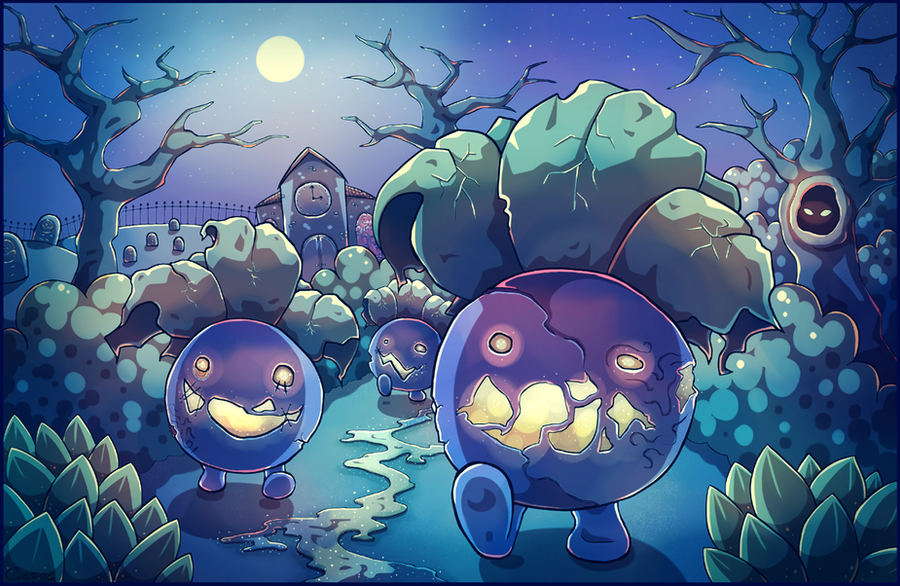 Night Of The Zombie Oddish By Louivi On DeviantArt