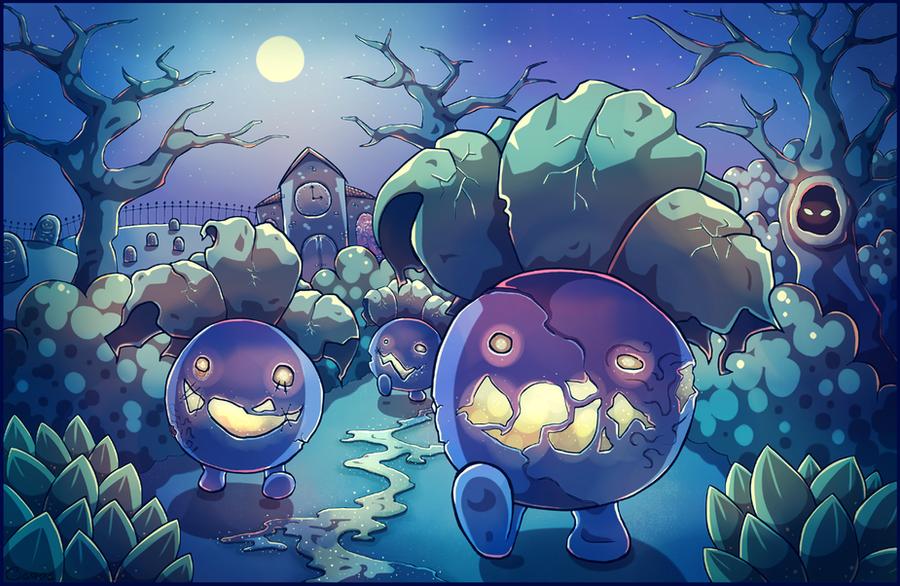Night Of The Zombie Oddish By Louivi On DeviantArt