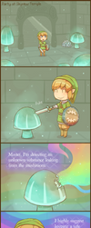 Skyward Sword: Party at Skyview Temple by Louivi