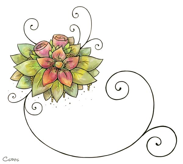 Flower Birthday Card By Louivi On Deviantart