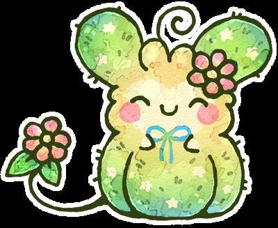 Starry Cactus Fluffbit by Louivi