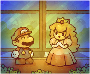 Paper Mario 64: Meeting Peach by Louivi