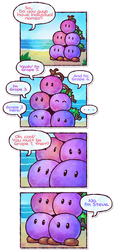 Paper Mario: The Grape Bob-ombs by Louivi