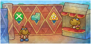 Paper Mario 64: Rowf's Badge Shop
