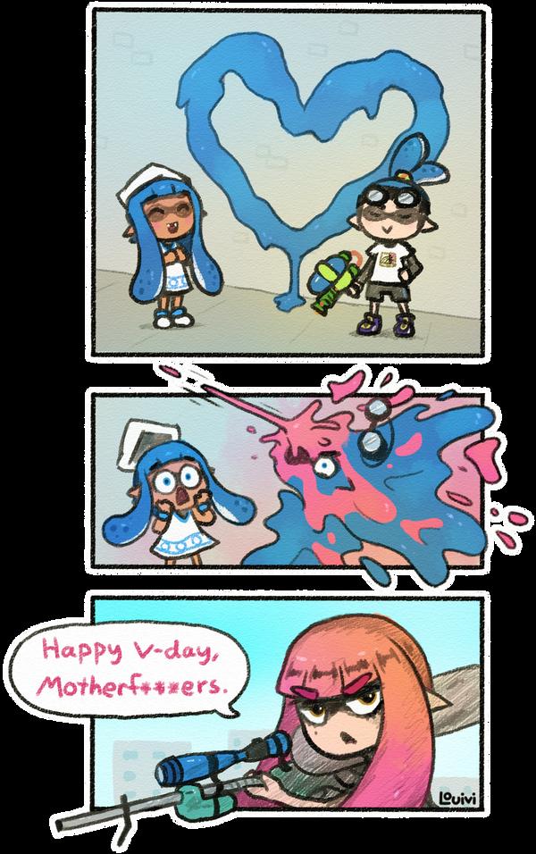 SWD comic - Happy V-day by Louivi