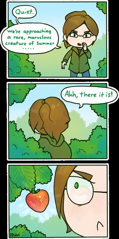 SWD comic - Maya's strawberry by Louivi
