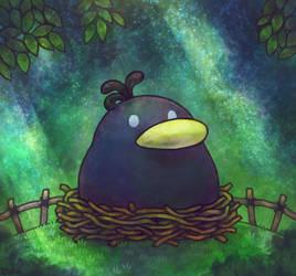 Paper Mario 64 - Raphael the Raven by Louivi
