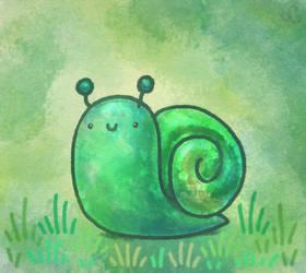 Green Snail by Louivi