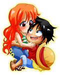 OP: Nami n Luffy Chibis