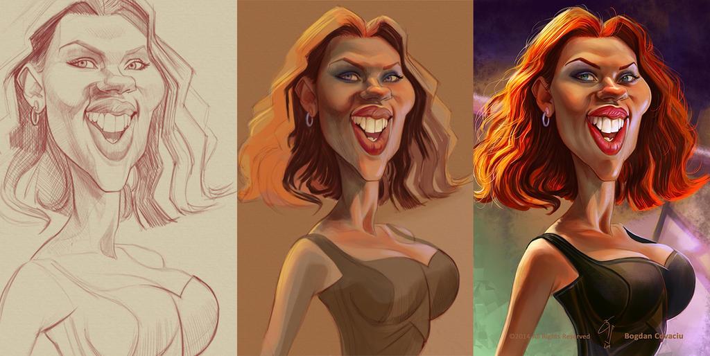 Scarlett Johansson by bogdancovaciu