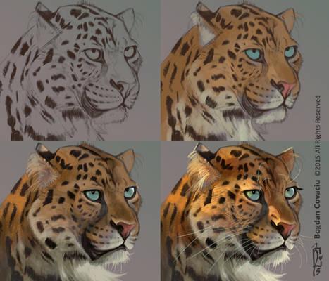 Leopard in Krita