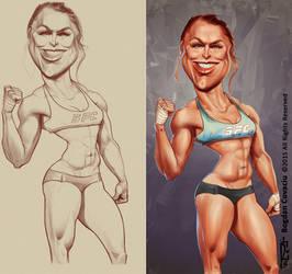 Ronda Rousey by bogdancovaciu