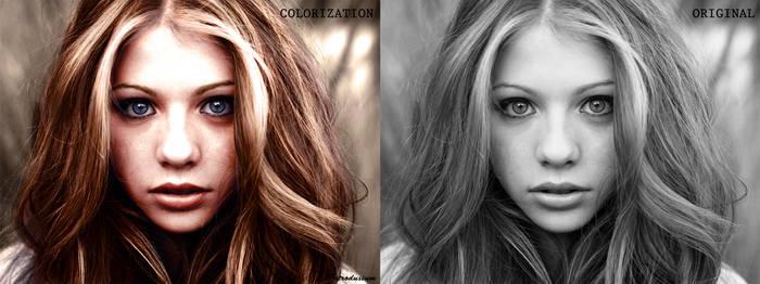 Michelle Trachtenberg Colorization