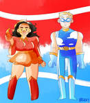 superhero au: the scarlet pyro and the weather man by m5w