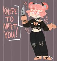 original: knife pun by m5w