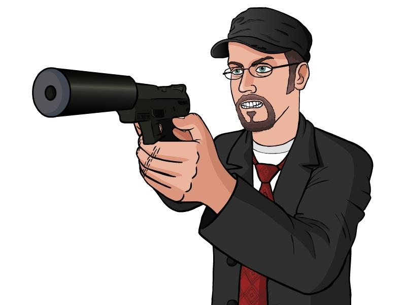 Nostalgia Critic Angry Gif Nostalgia Critic Gun Psycho by